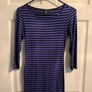 Black and blue stripe Dress